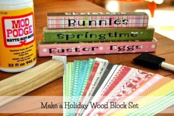 Holiday wood blocks