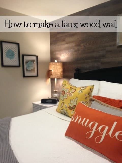 installing a faux wood wall