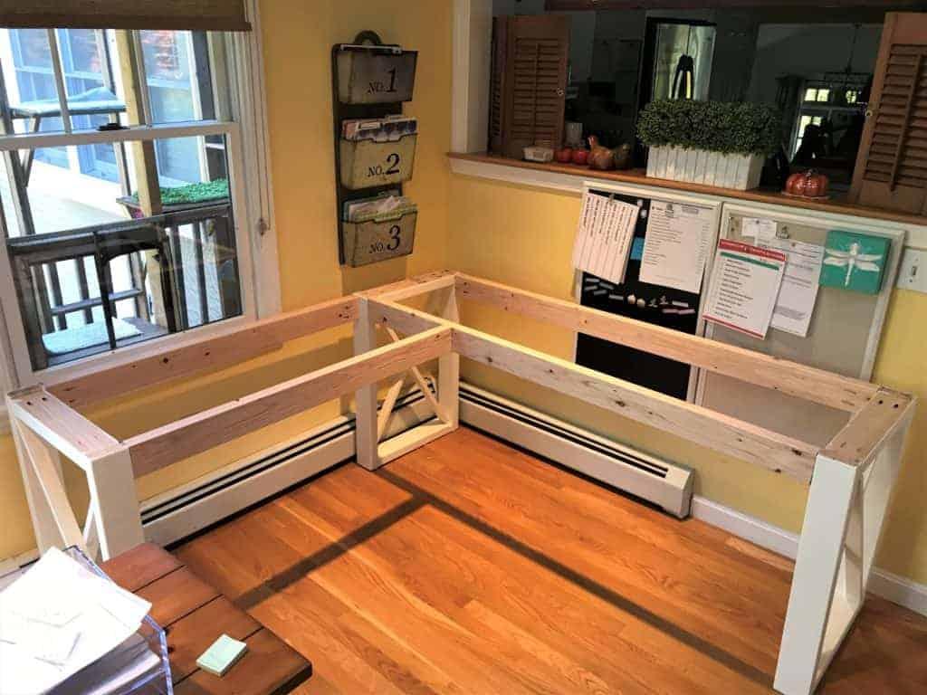 DIY Farmhouse Corner Desk