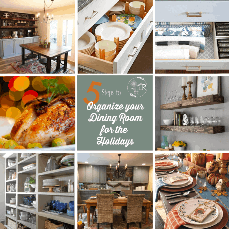 5 steps to organize your dining room for the holidays