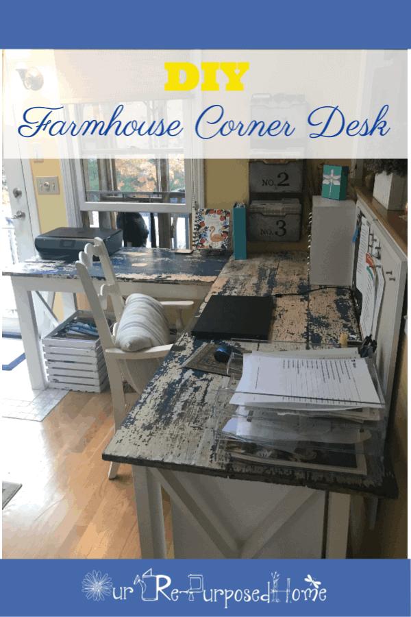 Farmhouse corner desk