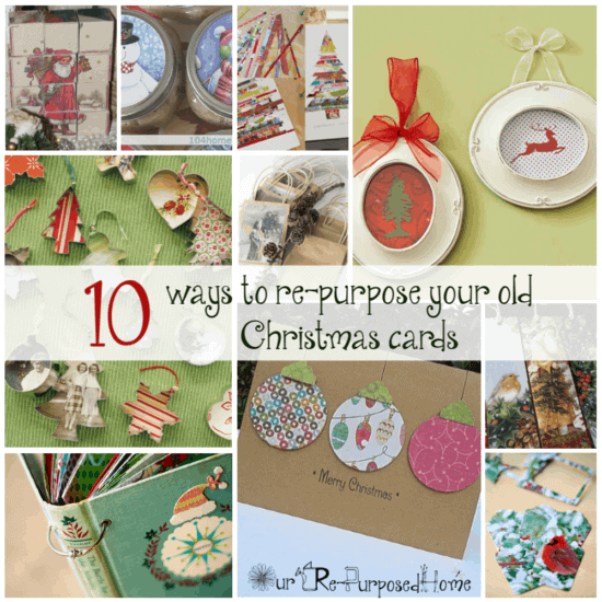 Repurpose Christmas Cards after the holidays