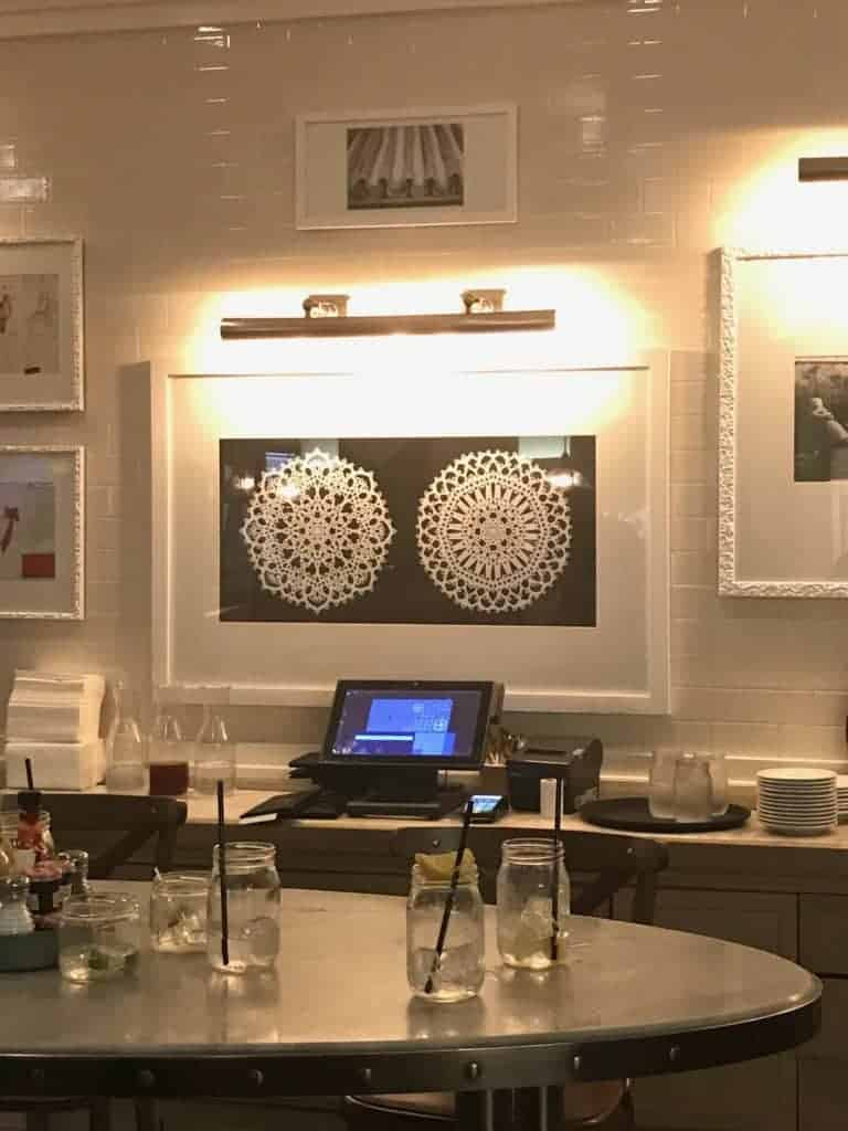 artwork decorating inspiration from the Pantry restaurant in Las Vegas