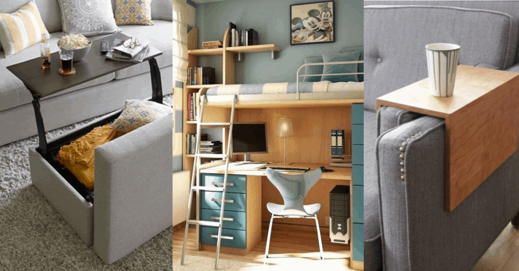functional furniture - how to make a small space feel bigger
