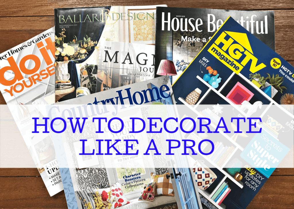 How to decorate like a pro