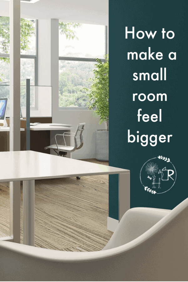 How to make a small room feel bigger pin