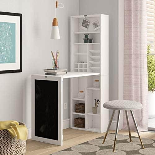 RV desk ideas, fold down shelving unit