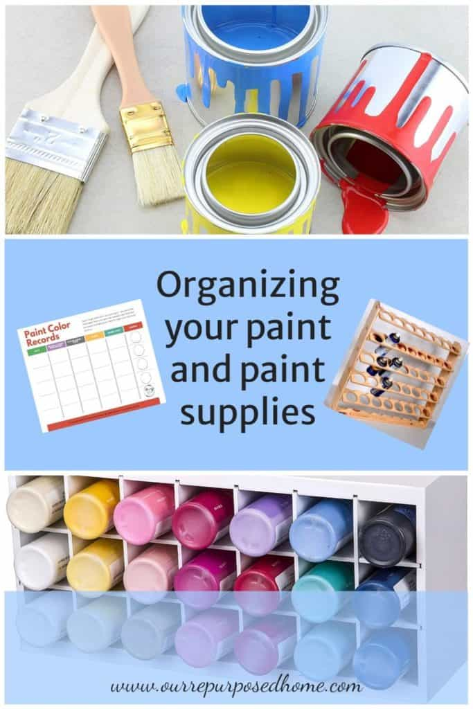 organizing paint supplies