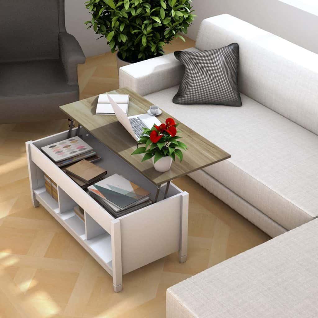RV desk idea flip top coffee table