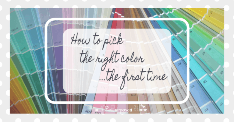how to choose the right paint color the first time