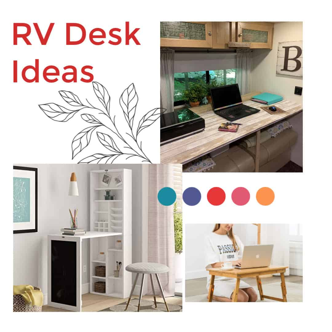 Rv Desk Ideas Movable And Multi Use Our Re Purposed Home
