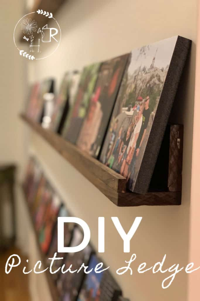pin image of how to make a DIY picture ledge