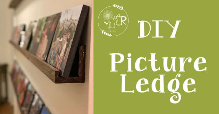 How to make a DIY picture ledge