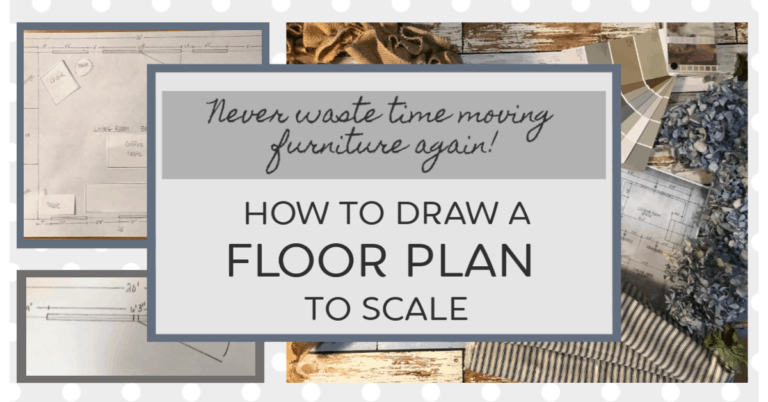 draw a floor plan to scale at home