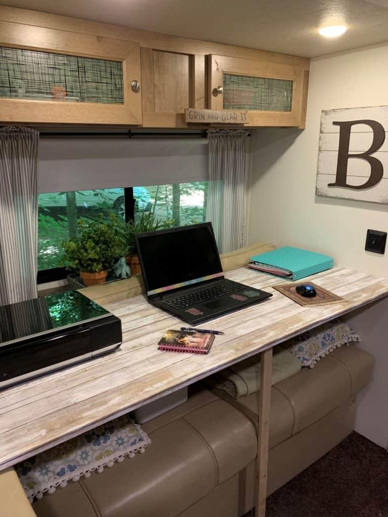 RV desk area