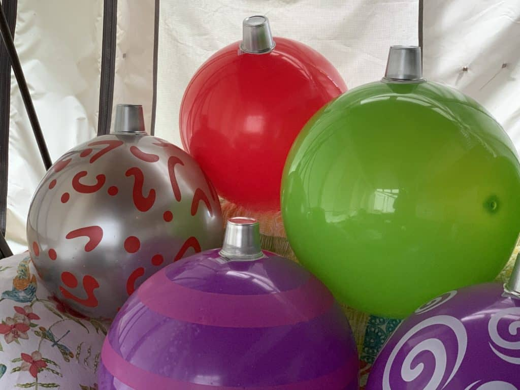 christmas ornaments made from balls
