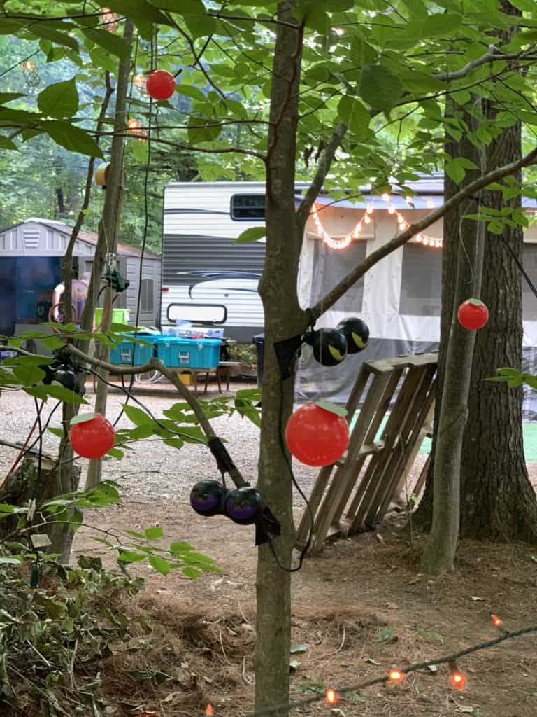 halloween camping angry orchard