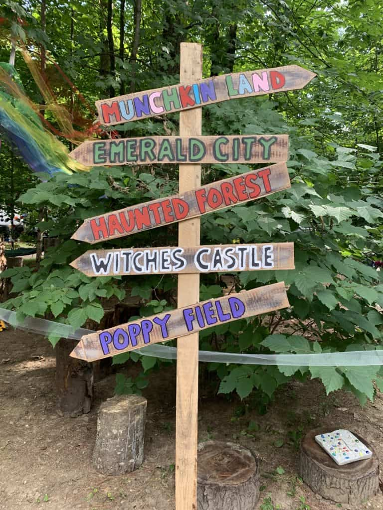 halloween camping wizard of oz sign