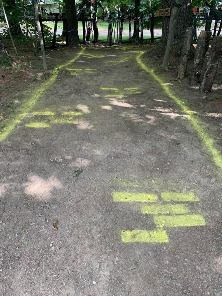 halloween camping yellow brick road