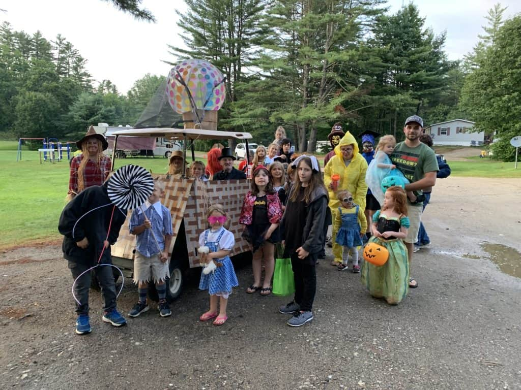 halloween camping costume parade