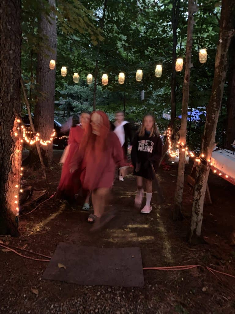 halloween camping trick or treating
