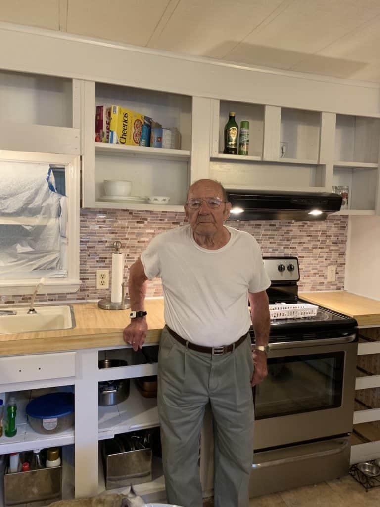 mobile home remodel before and after.  The backsplash tile