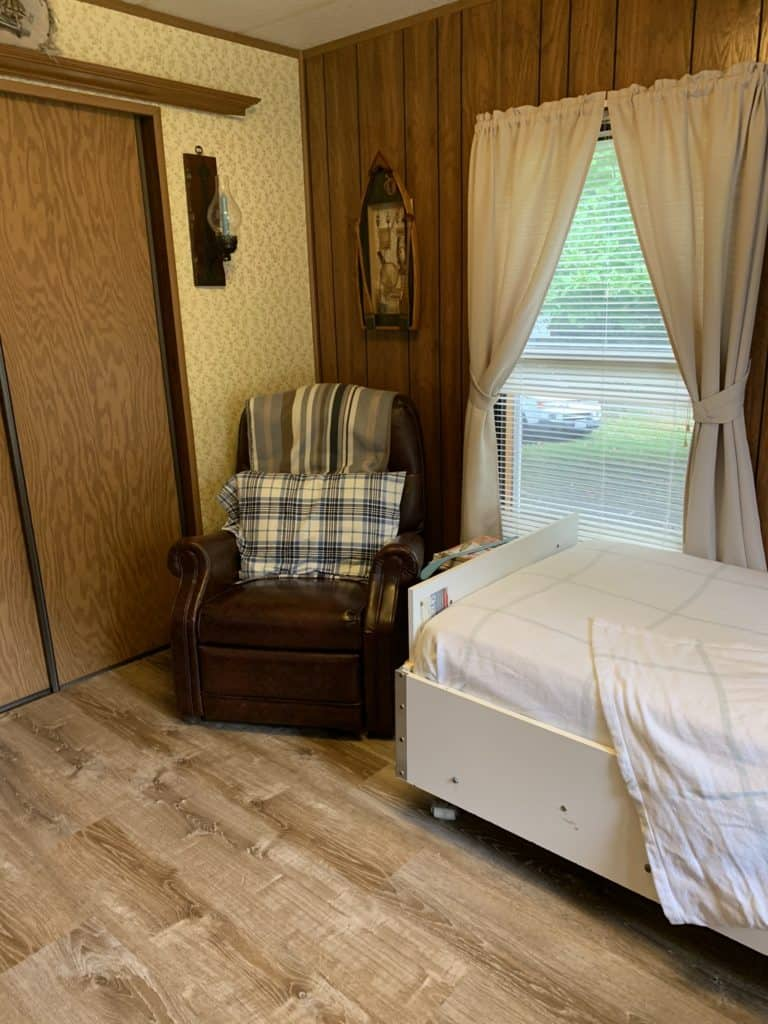 mobile home remodel before and after.  bedroom after