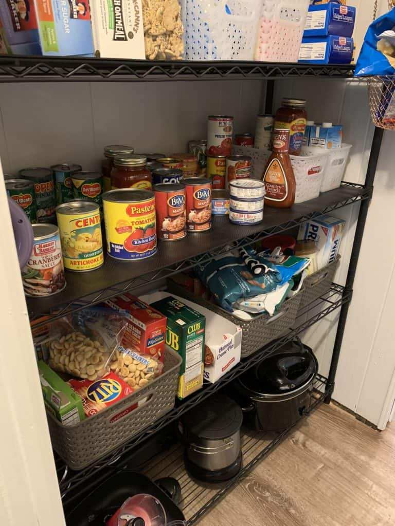 mobile home remodel before and after. after pantry update