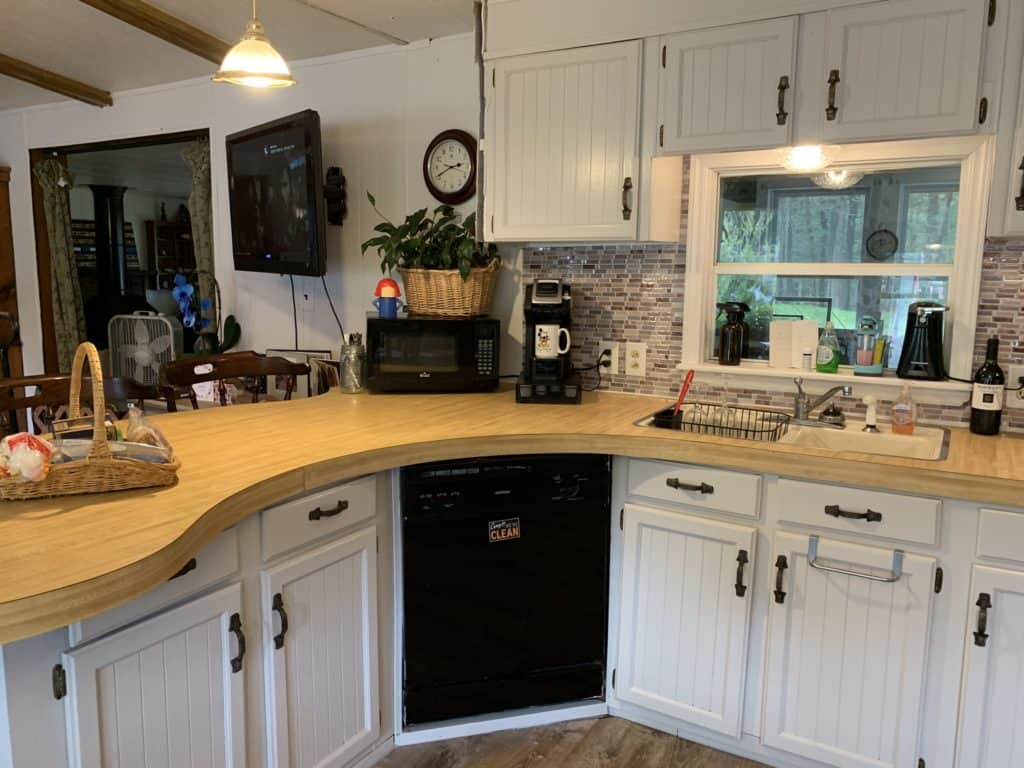 mobile home remodel before and after.