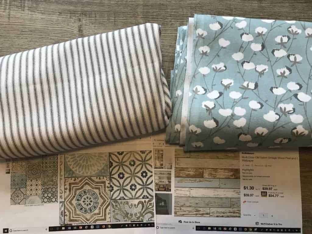 RV Renovation fabric and wallpaper choices