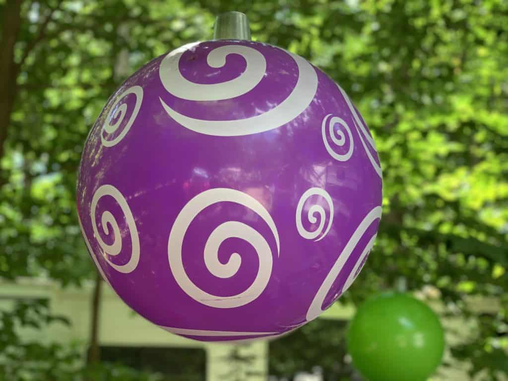 christmas ornament made from a ball