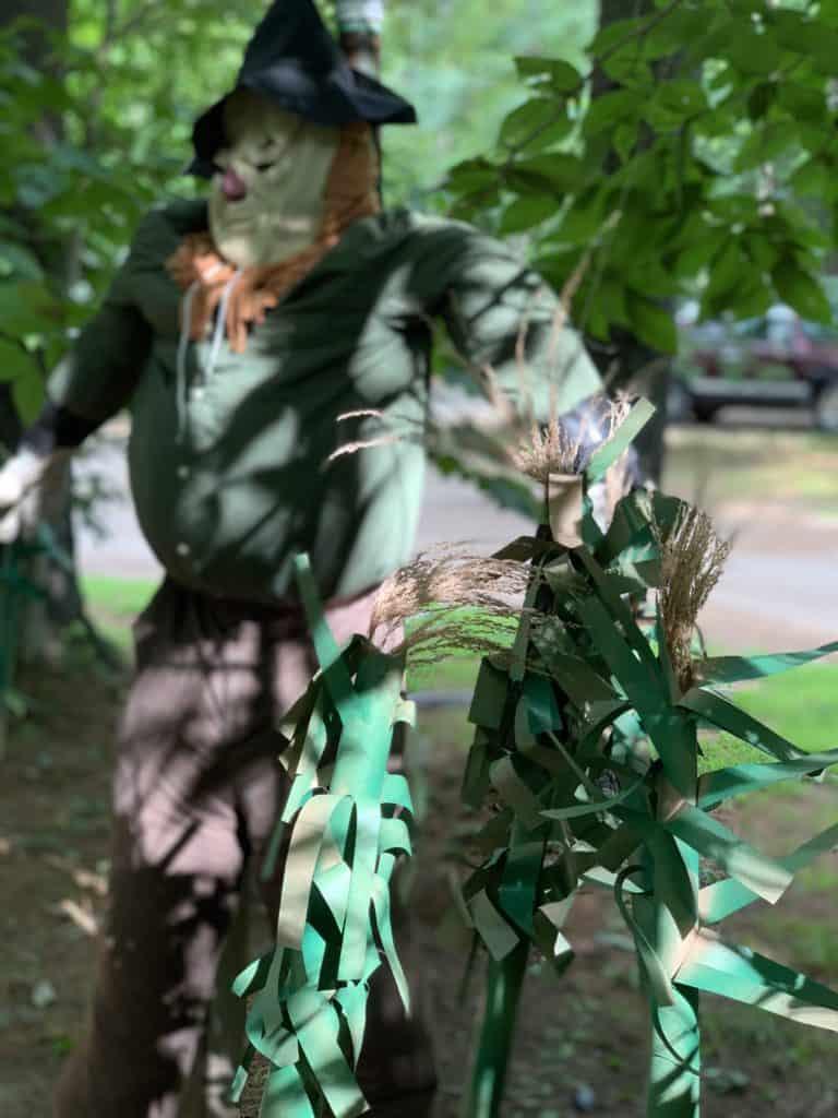 halloween camping scarecrow