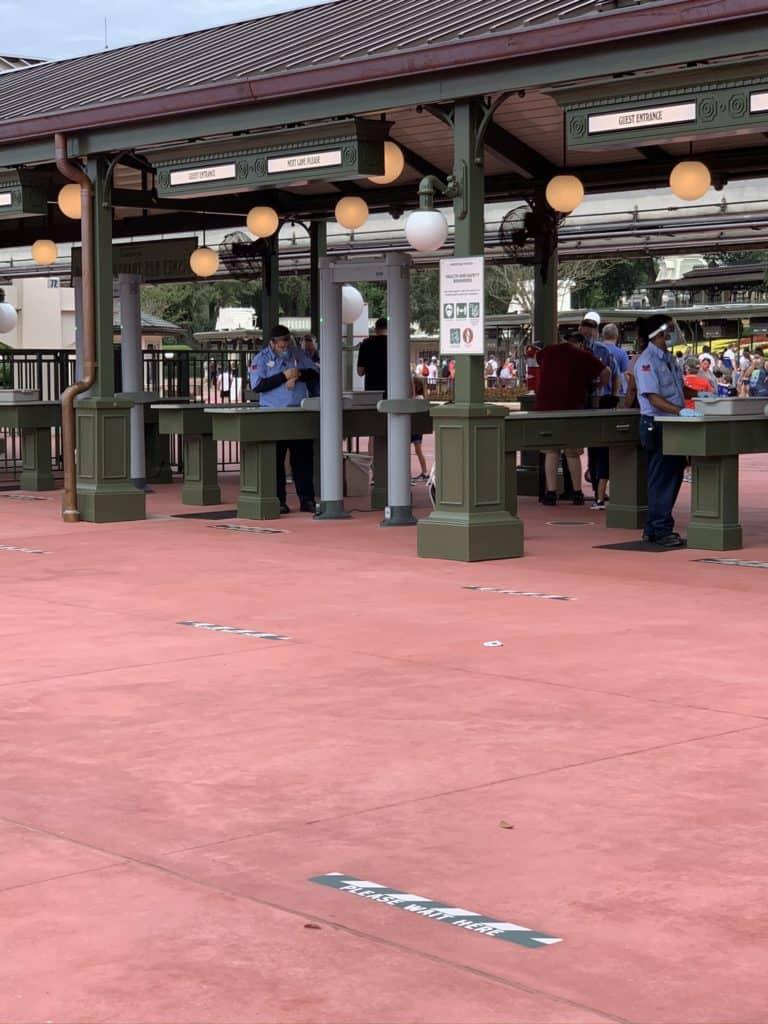 bag check at Disney World during Covid