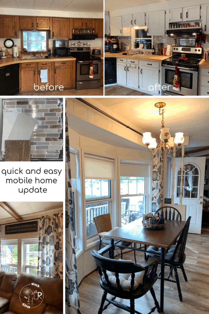 Mobile home remodel before and after
