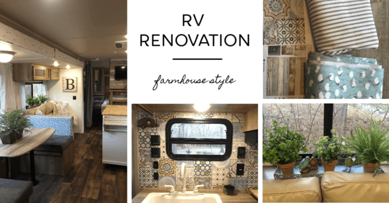 RV renovation into a farmhouse style