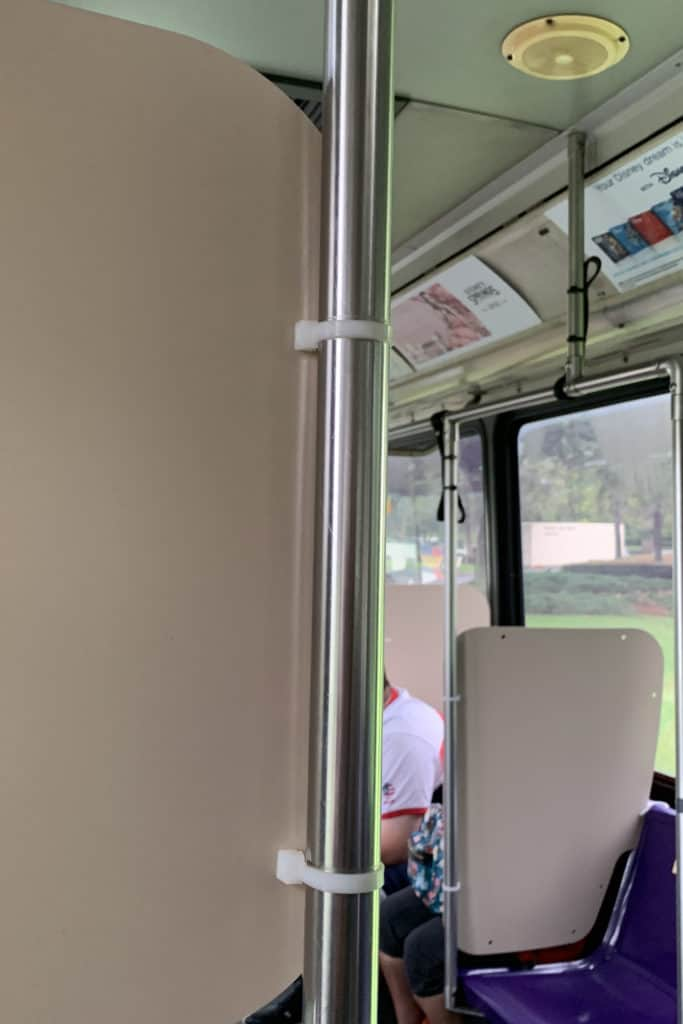 Disney World bus during Covid