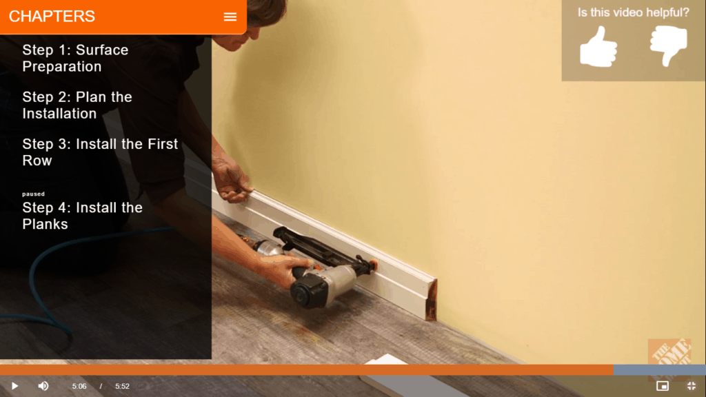 installing baseboards after laying vinyl flooring