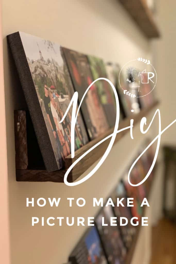 pin for DIY picture ledge instructions
