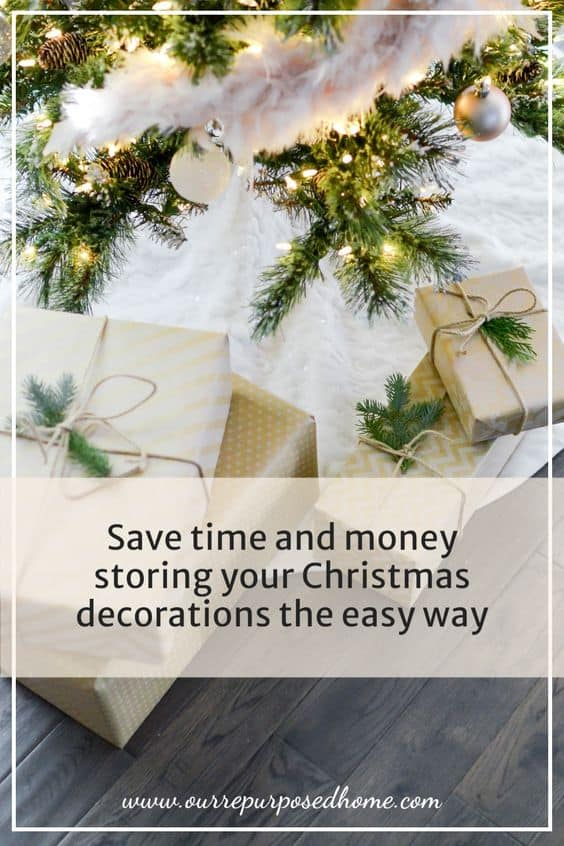 pin for storing Christmas decorations