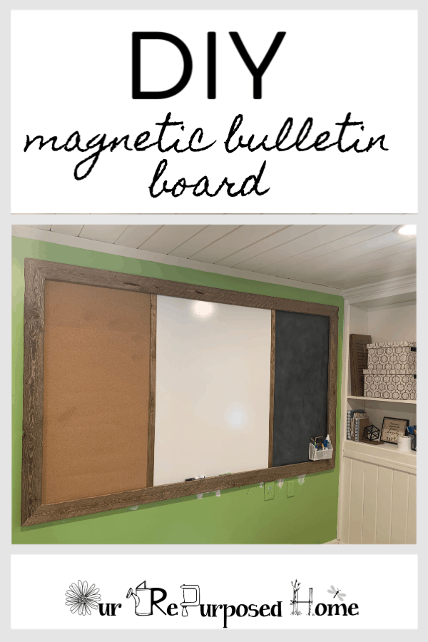 Diy Magnetic Bulletin Board Our Re Purposed Home