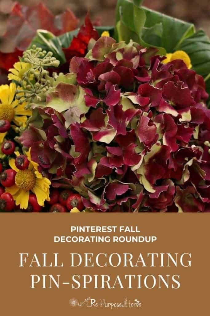 fall floral image pin