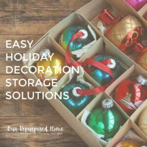 holiday decorations in box