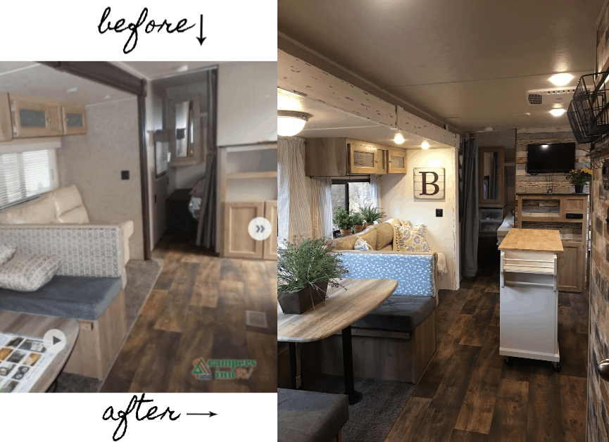Rv Renovation Farmhouse Style Our Re Purposed Home