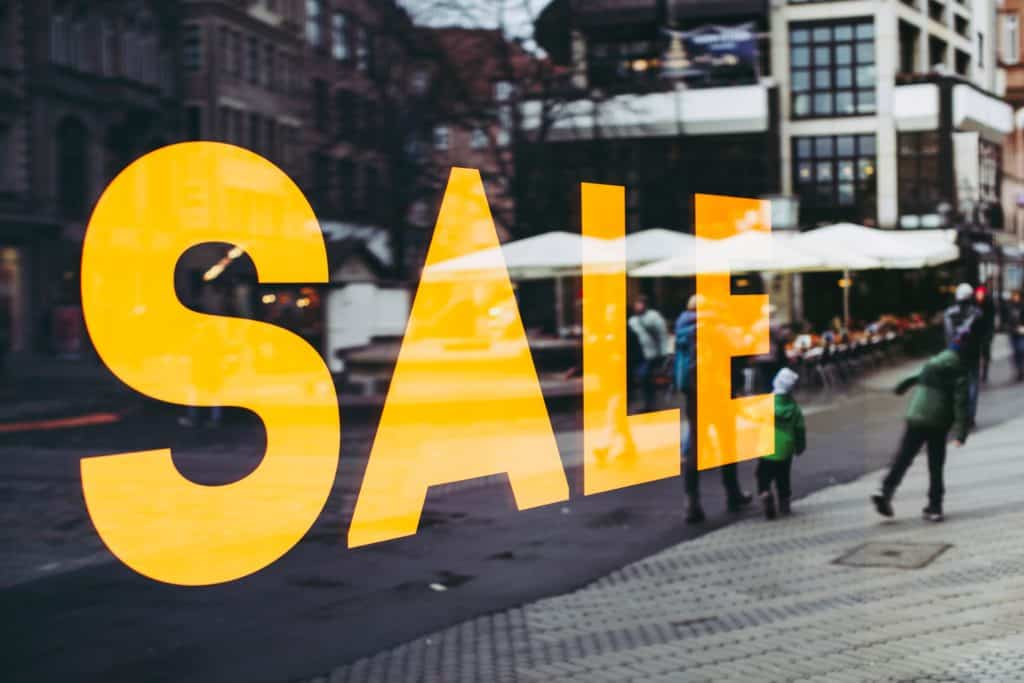 Sale.   The best time to purchase furniture