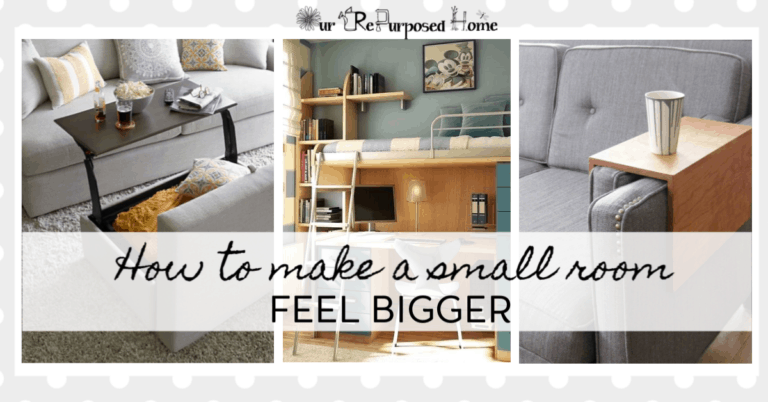 how to make a small room feel bigger with multi use furniture