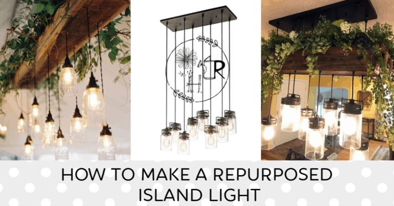 repurposed island light with plant box