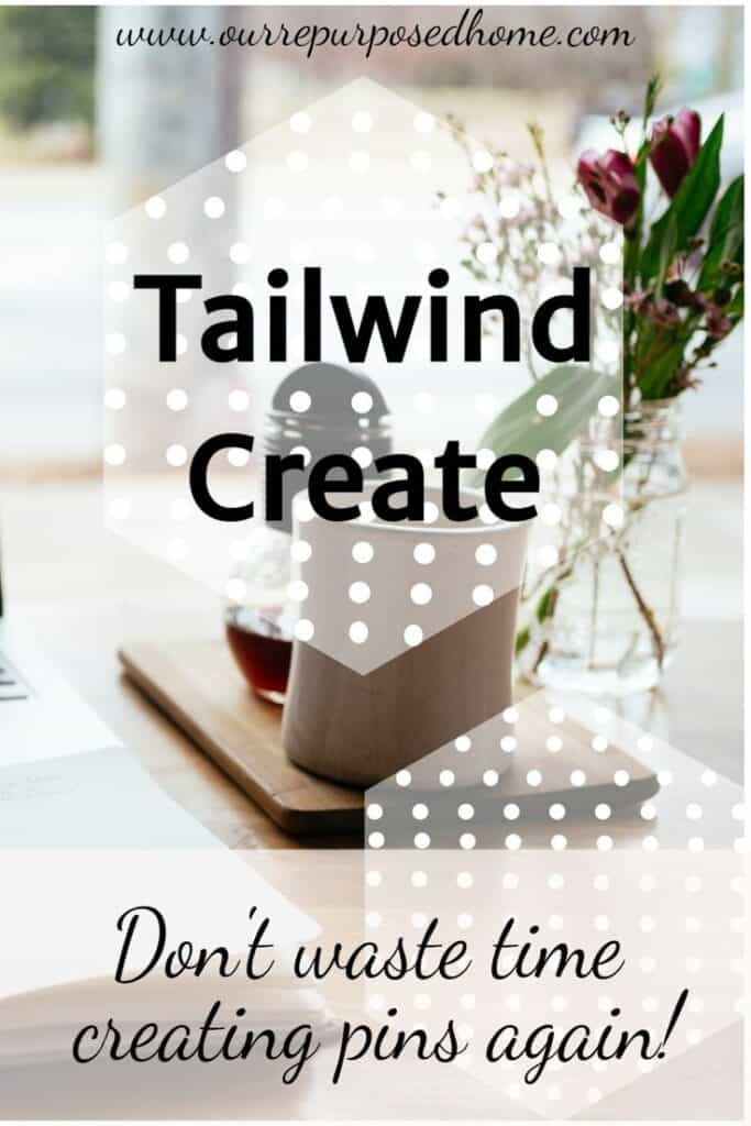 Pinterest pin for Tailwind Create with pretty centerpiece on a table